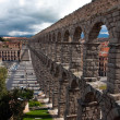 Roman aqueduct, Segovia - Stock Photo
