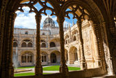 Monastery of jeronimos in Belem, Portugal — Stock Photo