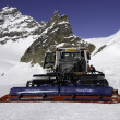 Snowplow equipment of the Jungfrau region - Stock Photo