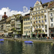 At noon in Lucerne - Stock Photo