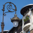 Lantern on the street of Deauville. - Stock Photo