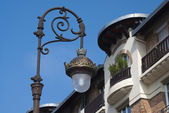 Lantern on the street of Deauville. — Stock Photo