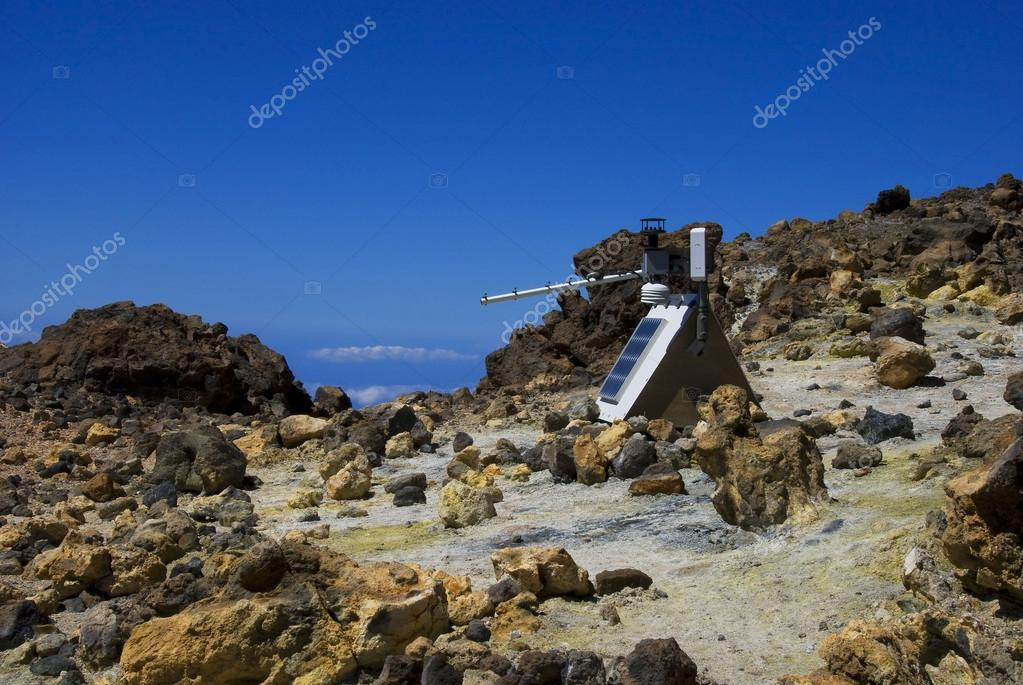 Relayed antenna on the top of the volcano Teide. Tenerife. — Stock Photo #13549574