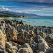 Pancake Rocks, Punakaiki, West Coast, New Zealand - Stock Photo