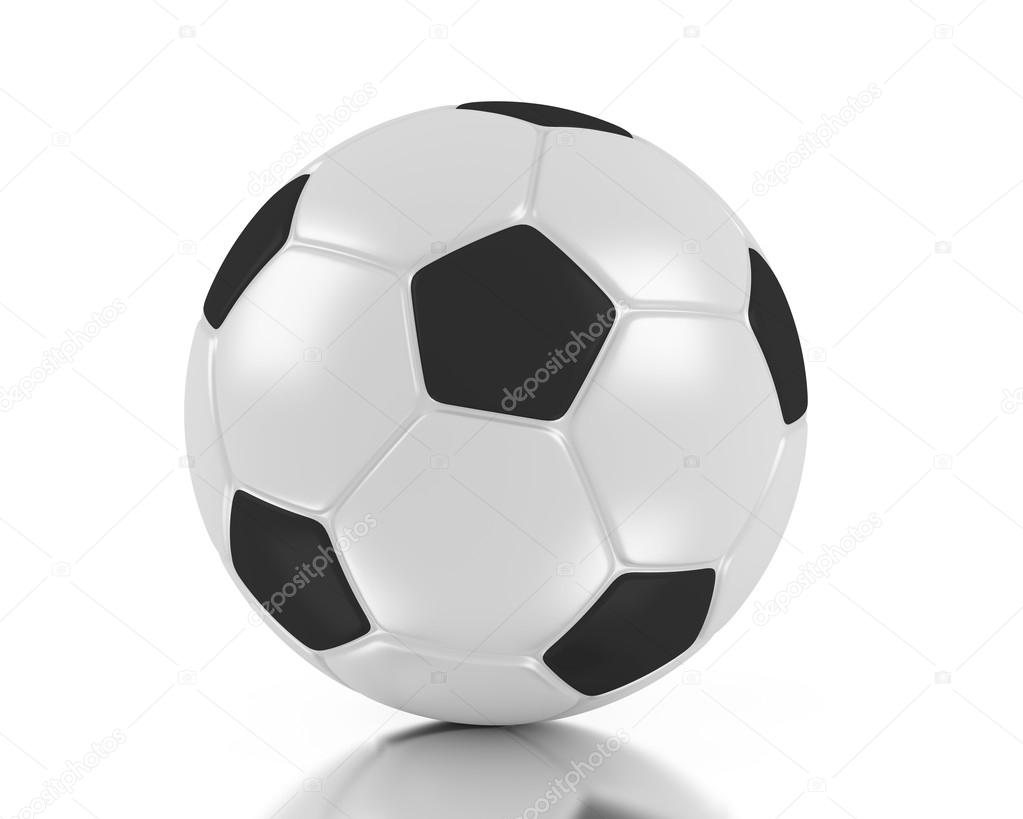 3d soccer ball. 3d football. 3d illustration. — Stock Photo #12204940