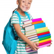 Little boy with books — Stock Photo #12571615