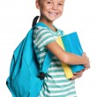 Little boy with books — Stock Photo #12573240