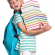 Little boy with books — Stock Photo #12573329