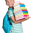 Little boy with books — Stock Photo #12573383