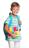 Little boy with exercise books — Foto Stock