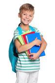 書籍と小さな男の子 — ストック写真