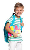 Little boy with exercise books — Stock Photo