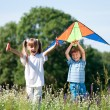 Stock Photo: Children with kite