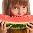 Little girl with watermelon — Stock Photo #13130747