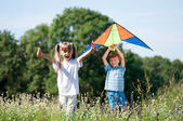 Children with kite — Stock Photo