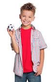 çocuğun futbol topu — Stok fotoğraf