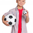 Boy with soccer ball — Stock Photo #13270811