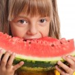 Stock Photo: Little girl with watermelon