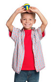Boy with volleyball ball — Stock Photo