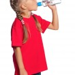 Little girl with bottle of water — Stock Photo