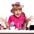 Makeup little girl — Stock Photo #14503227