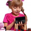 Stock Photo: Makeup little girl