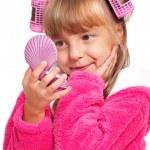Makeup little girl — Stock Photo #17376237