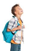 バックパックを持つ少年 — ストック写真