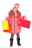 Little girl in winter clothing — Stock Photo