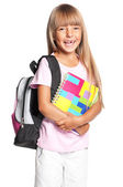 Menina com mochila — Foto Stock