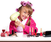 Makeup little girl — Stock Photo