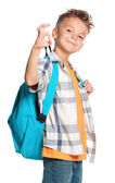 Boy with backpack — Stock Photo