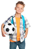 Boy with soccer ball — Stock Photo