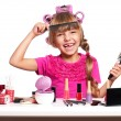 Makeup little girl — Stock Photo