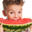 Boy with watermelon — Stock Photo #24523685