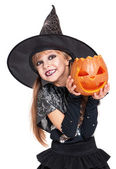Little girl in halloween costume — Stock Photo