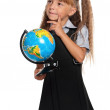 Little girl with globe — Stock Photo #35260479