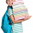 Little boy with books — Stock Photo #36620213