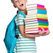 Stock Photo: Little boy with books