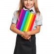 Little girl with exercise books — Stock Photo #38971787