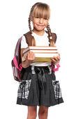 书的女孩 — 图库照片