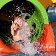 Boy at aqua park — Stock Photo #50155229