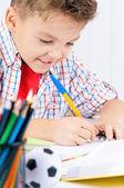 Αγόρι που κάνει την εργασία — Φωτογραφία Αρχείου