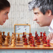 Royalty-Free Stock Photo: Woman and man competition