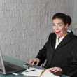 Surprised businesswoman at office — Stock Photo