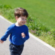 Little running kid — Stock Photo