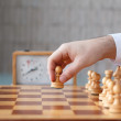 First move with white pawn — Stock Photo