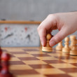 First move with white pawn side — Stock Photo