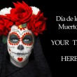 Stock Photo: Womwith dide los muertos makeup