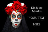 Woman with dia de los muertos makeup — Stock Photo